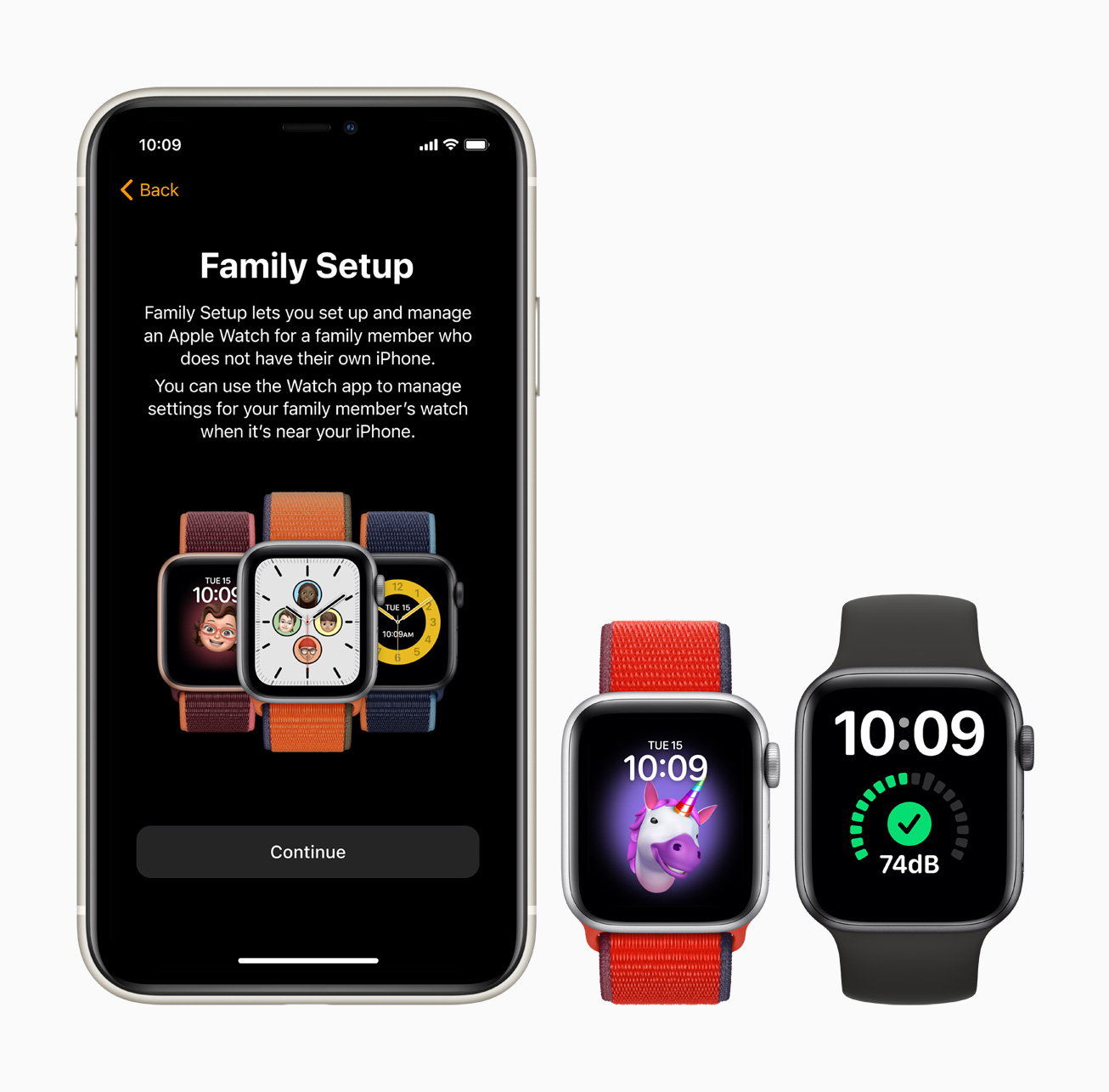 Apple watch family setup iphone11 screen 09152020