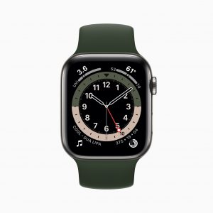 Apple watch series 6 stainless steel case gmt watchface 09152020