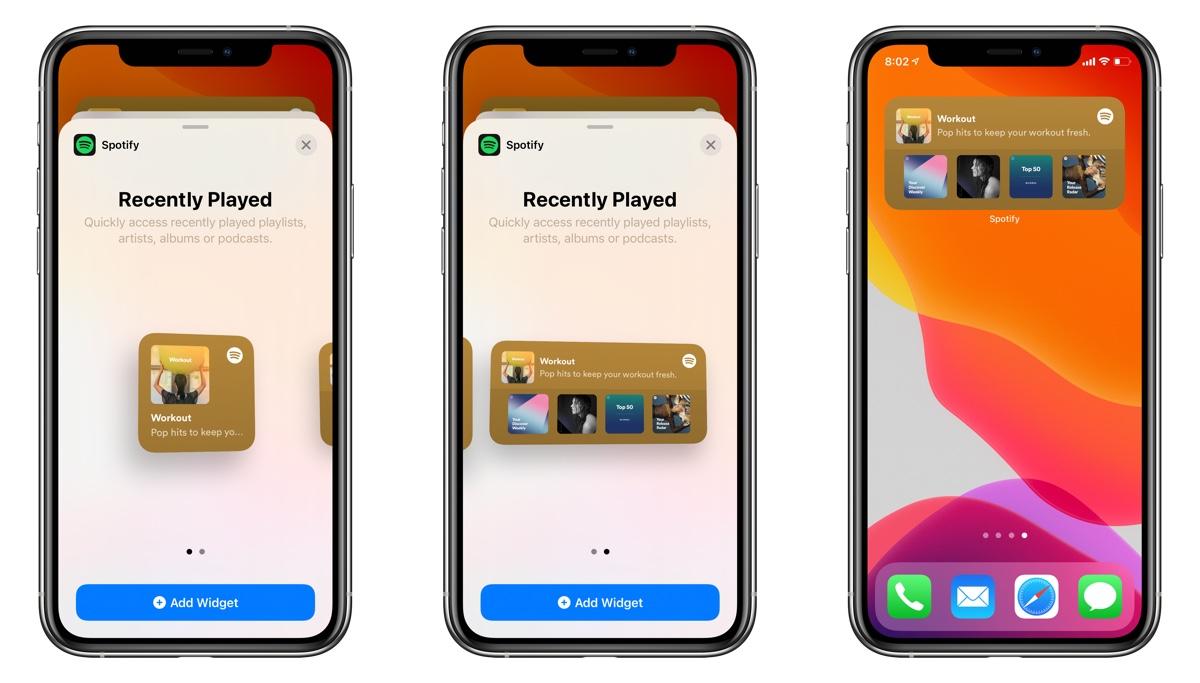 Spotify widget iPhone