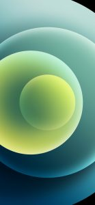 iPhone 12 wallpaper Orbs-Green-Light