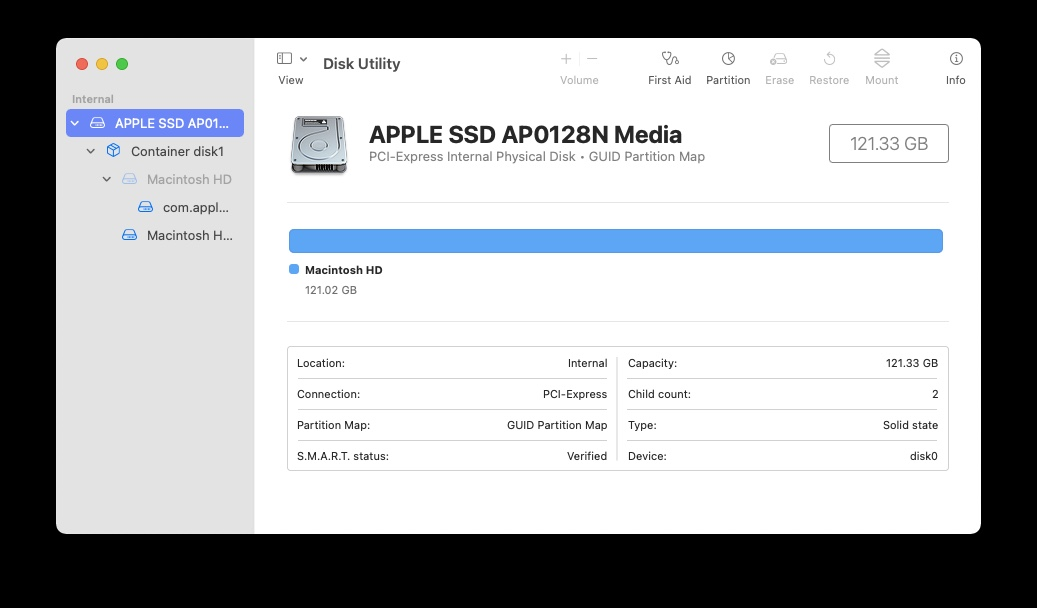 clean install macOS Big Sur format Disk Utility