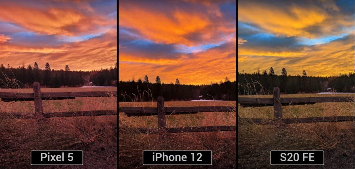 iPhone 12 vs S20 FE vs Pixel 5 camera comparison