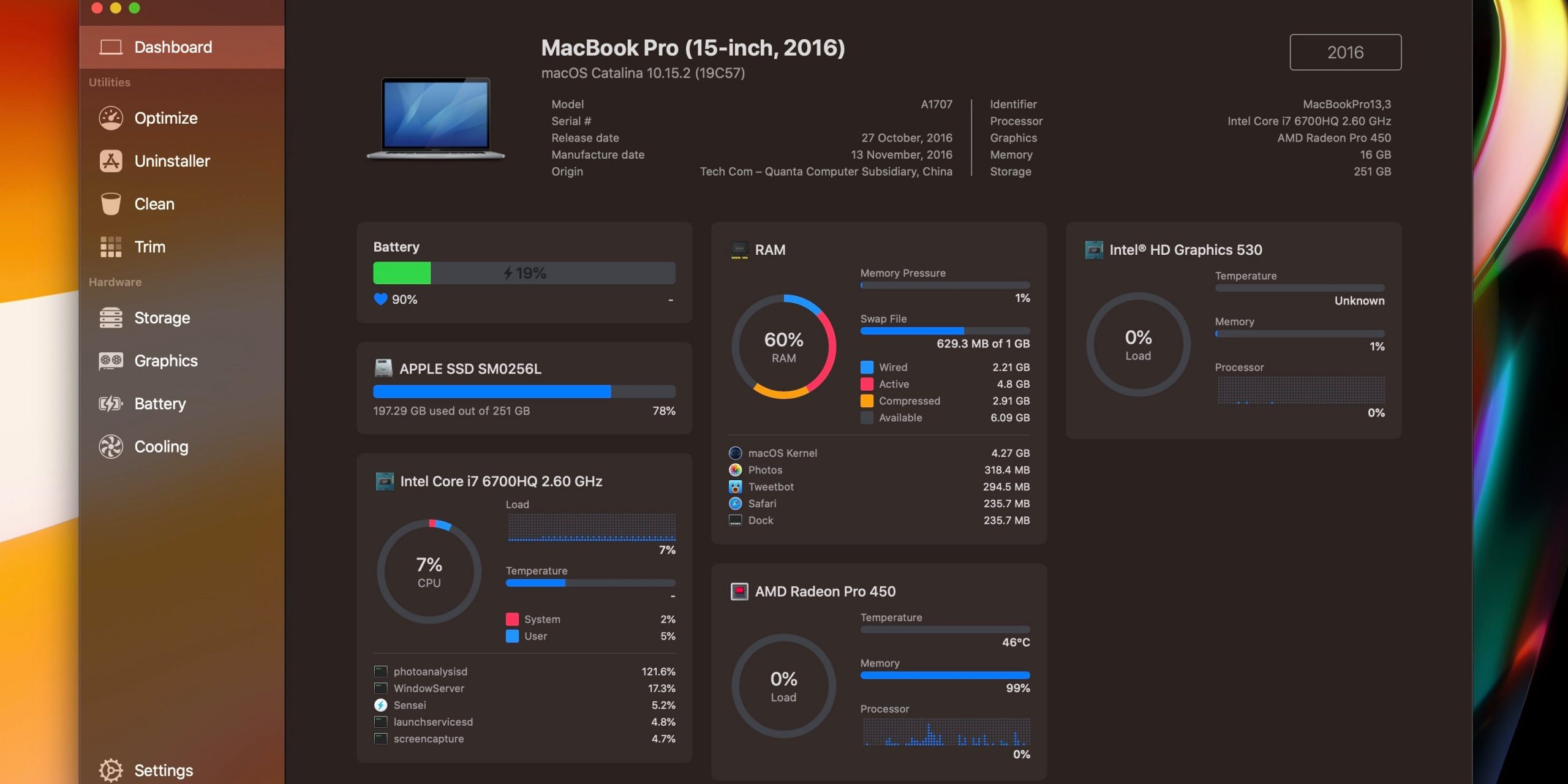 Sensei app monitoring M1 mac