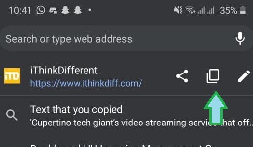 copy and paste address