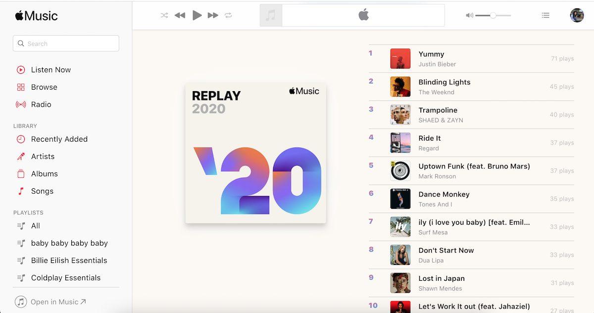 Apple Music Replay