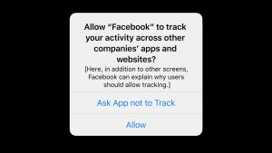 ATT privacy prompt facebook