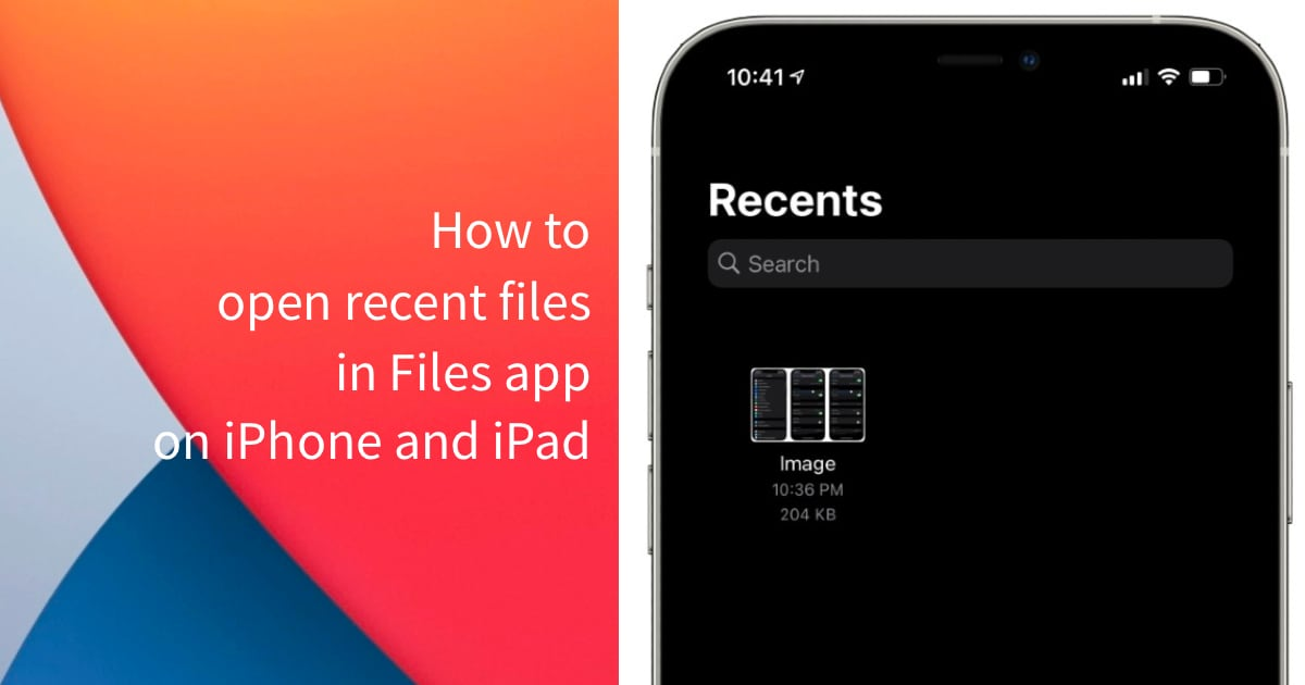 Files app iPhone iPad