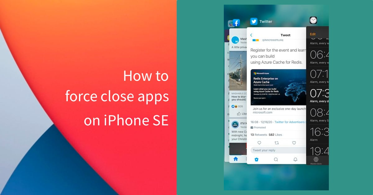 force close apps on iPhone SE