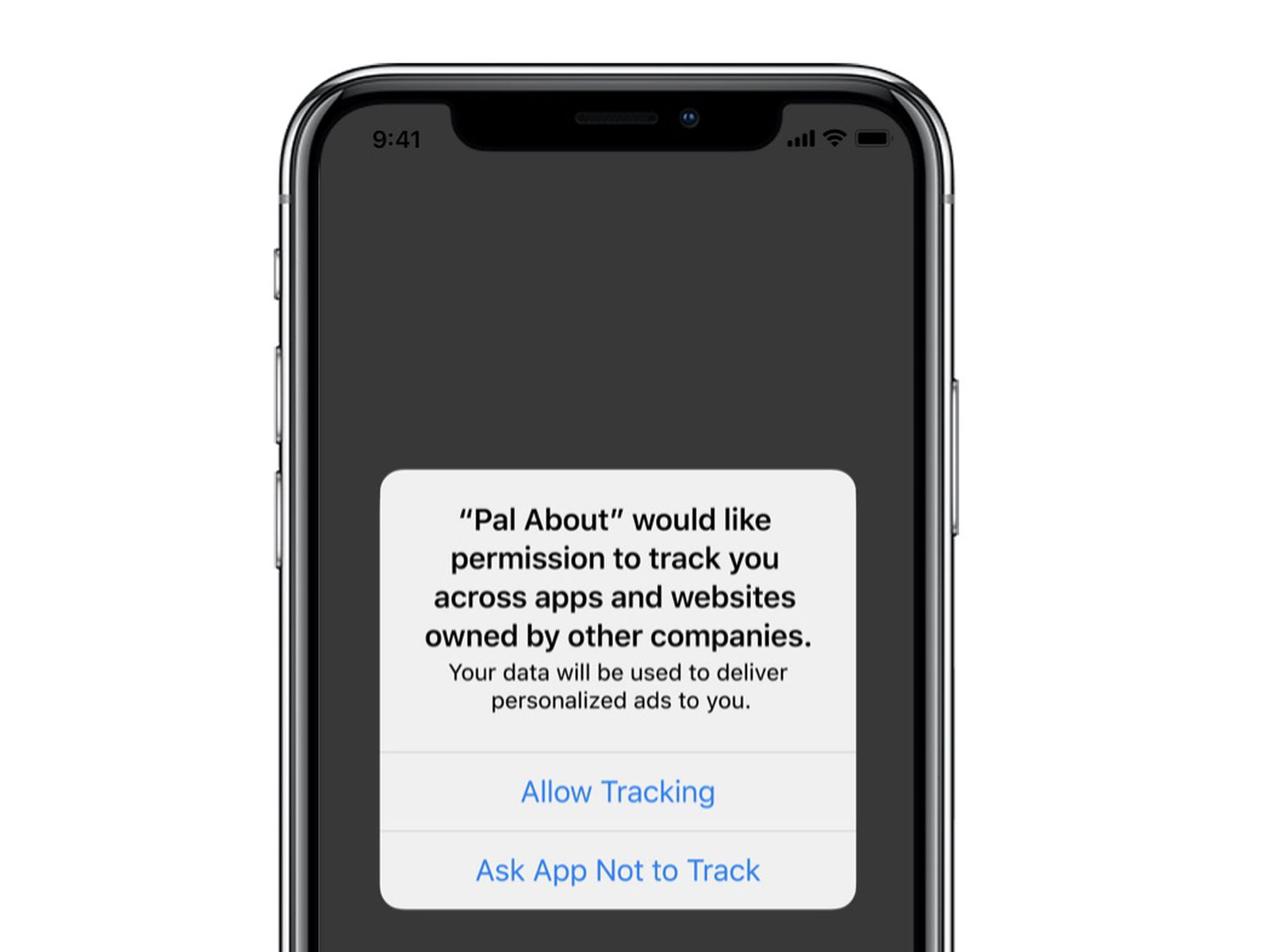 iOS 14 allow tracking