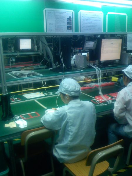 Apple's original 2007 iPhone assembly line