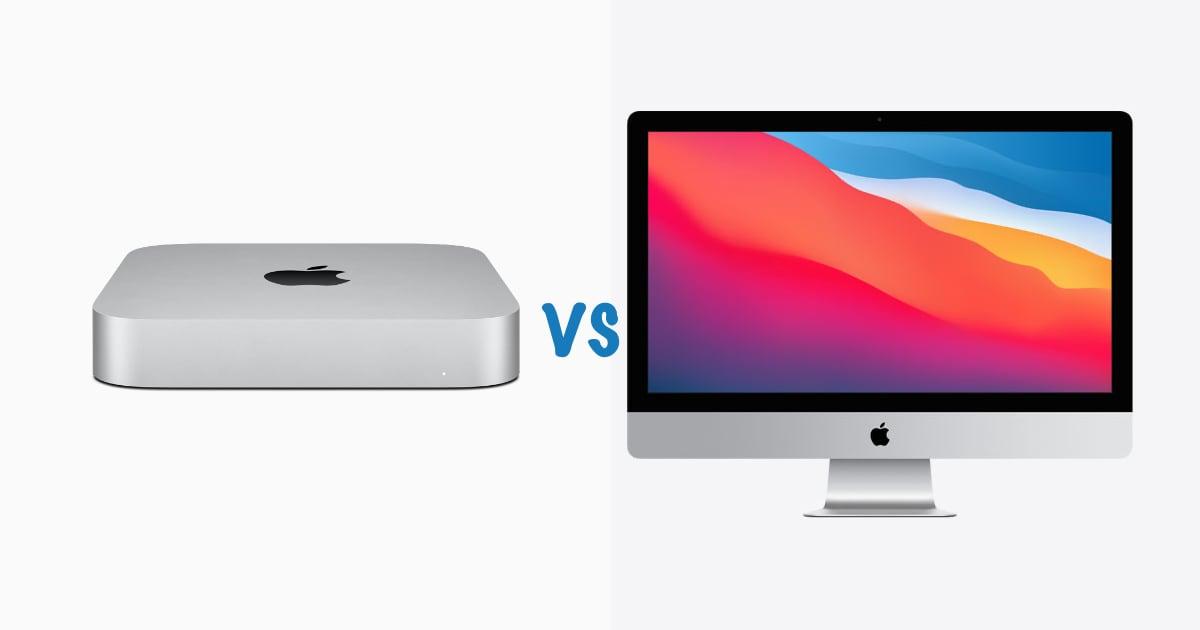 m1 mac mini vs iMac 5k