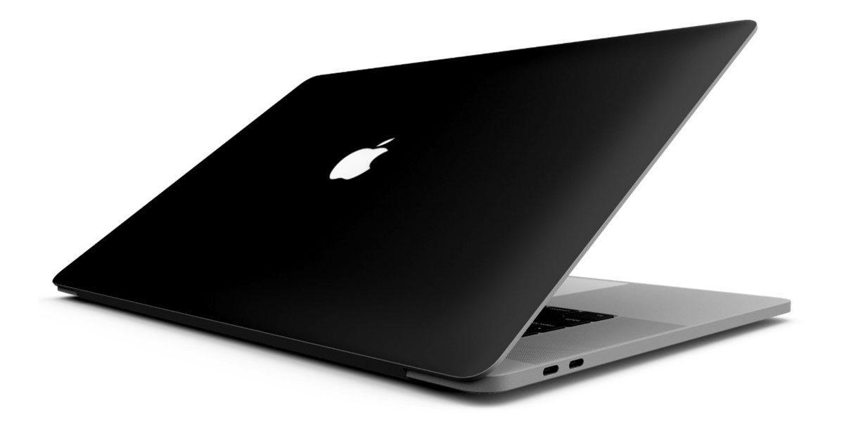 matte black Macbook
