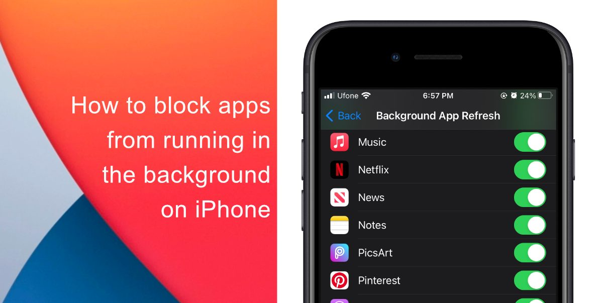 How to block apps from running in the background on iPhone