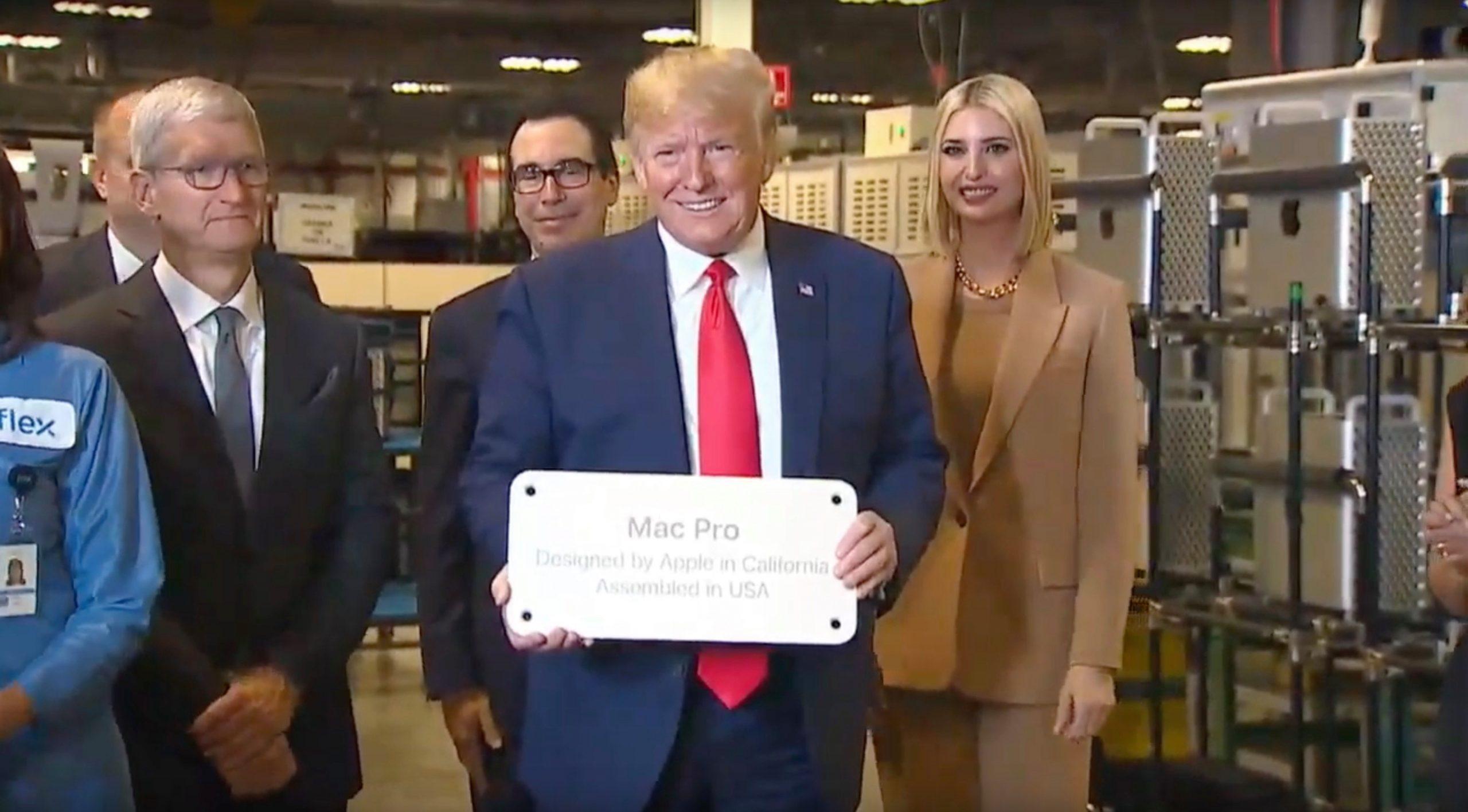 Donald Trump, Tim Cook 2019 Mac Pro
