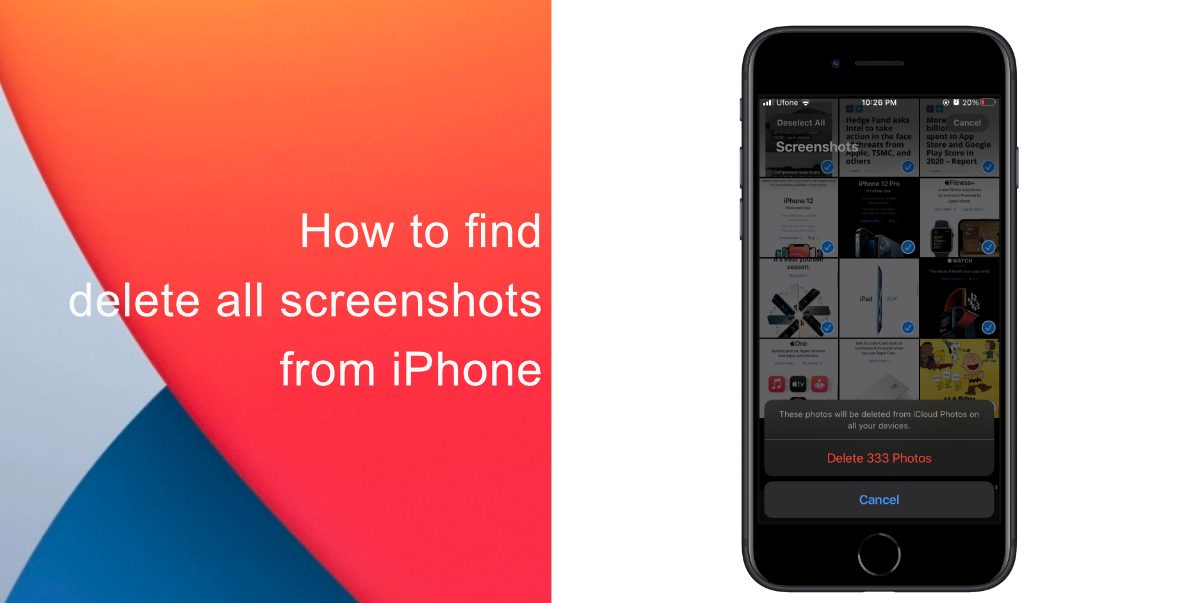 How to find screenshots iPhone