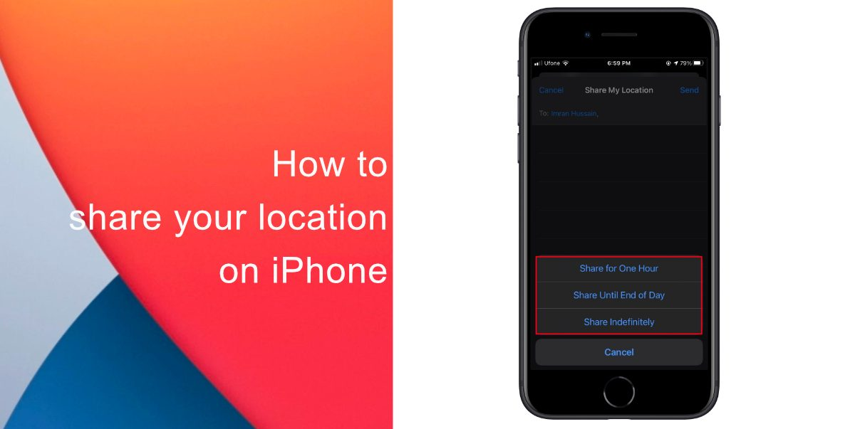 How to share your location on iPhone
