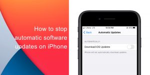 How to stop automatic software update