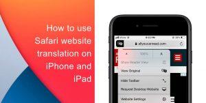 Safari website translation