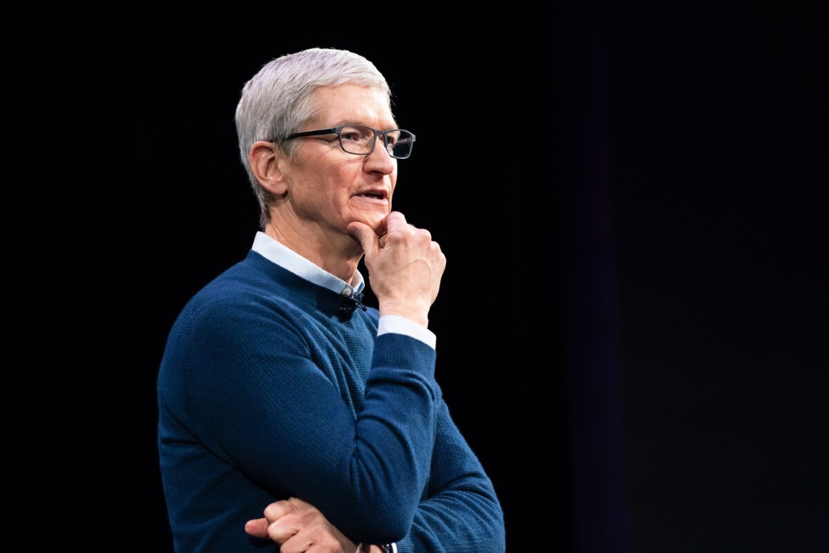 Apple CEO Tim Cook voting
