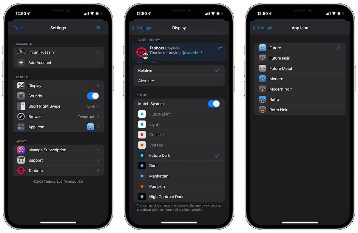 Tweetbot 6 iOS Twitter app Settings