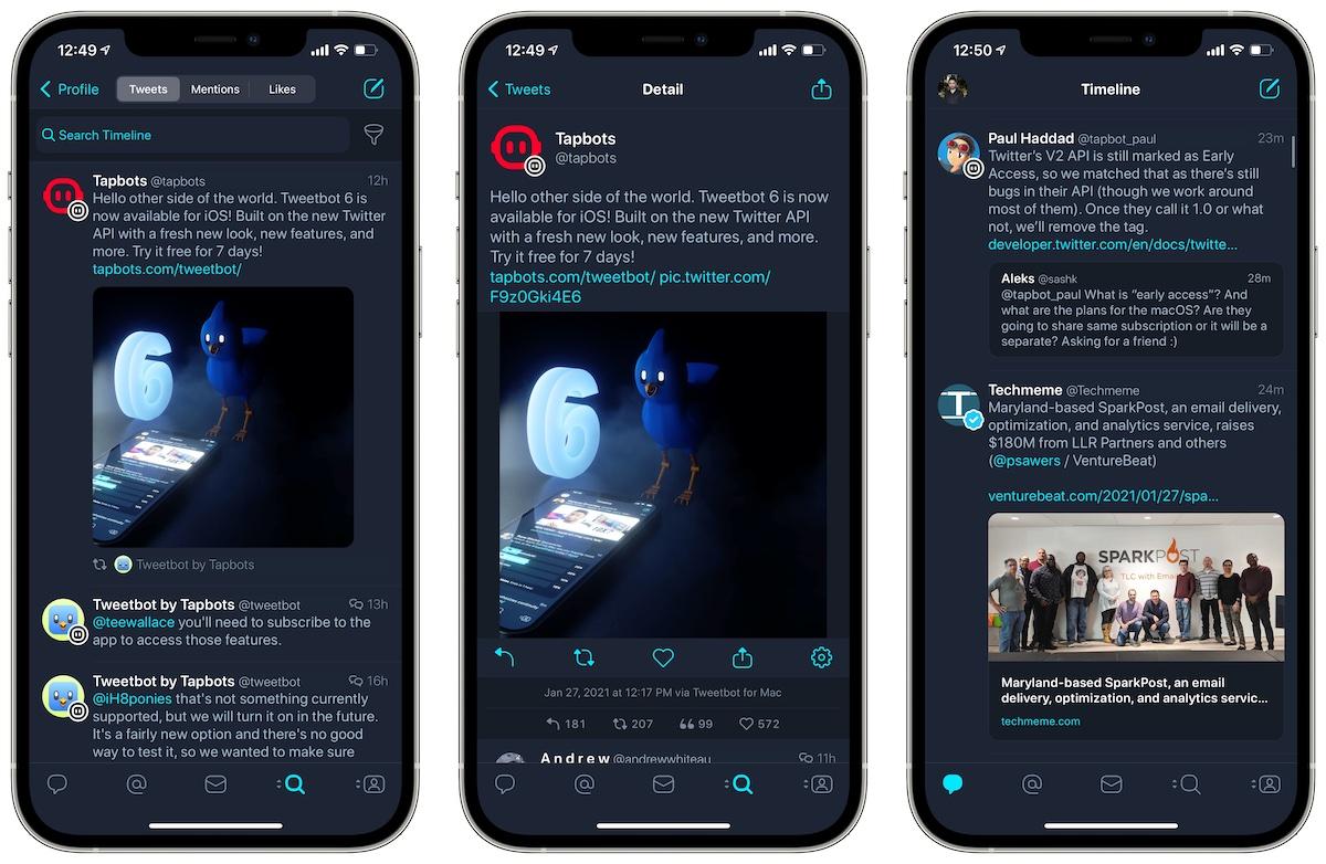 Tweetbot 6 iOS Twitter app