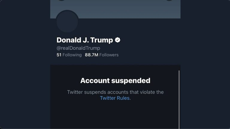 Twitter suspends President Trump