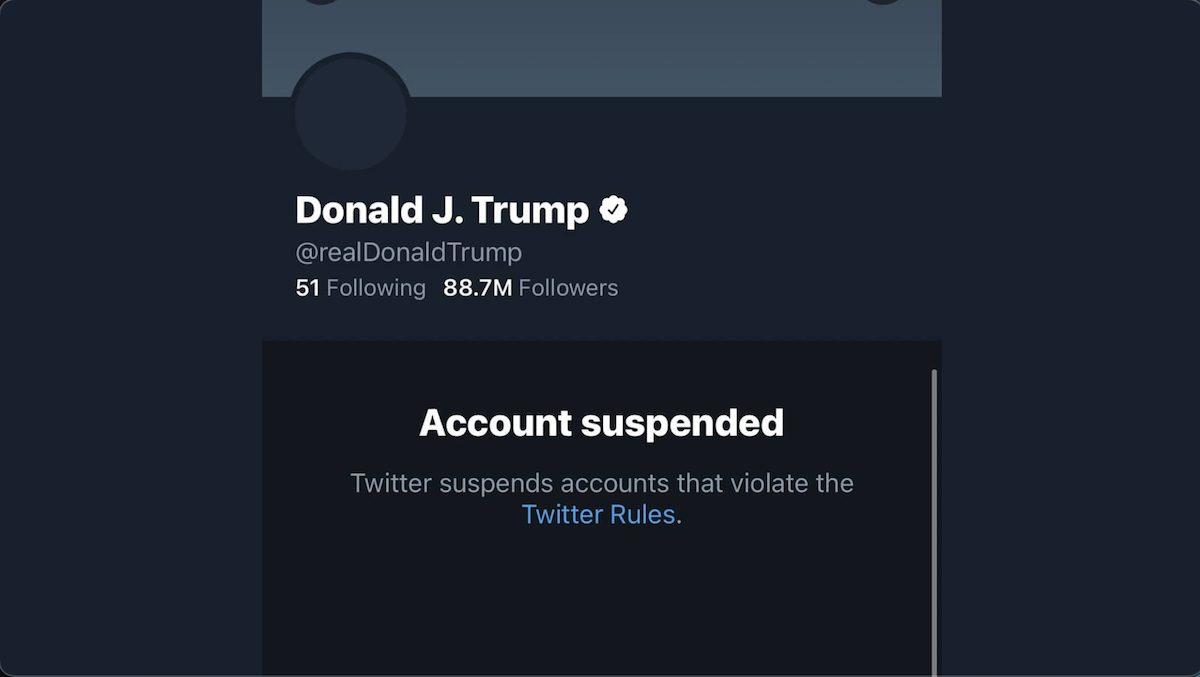 Twitter suspends President Trump