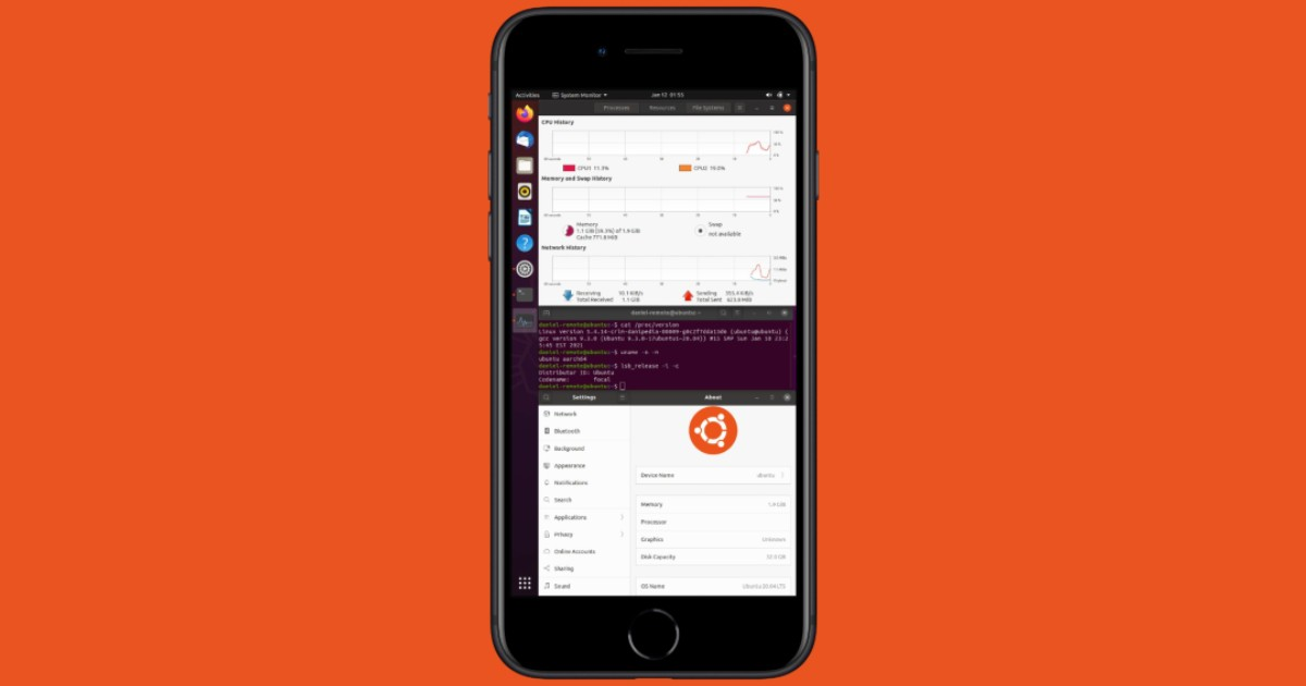 Ubuntu on iPhone 7