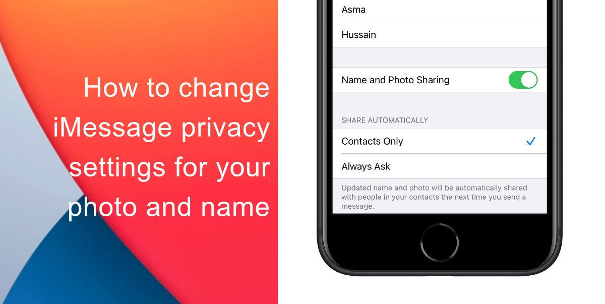 iMessage privacy settings