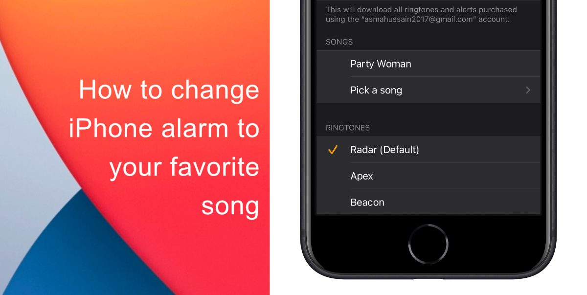 How to change iPhone alarm to your favorite song