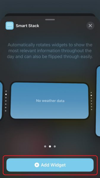How to use smart stack widget on iPhone and iPad