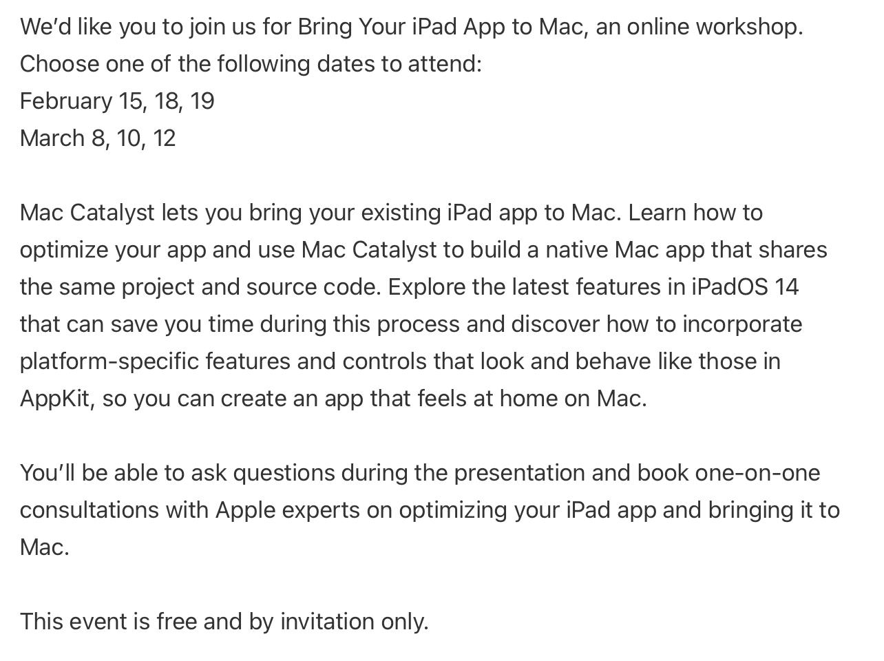 Bring Your iPad app to Mac