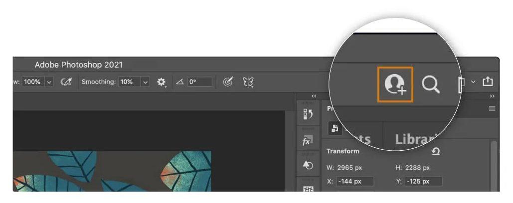 Adobe Photoshop Invite to Edit