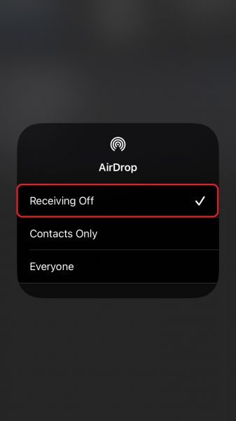 Change AirDrop privacy settings