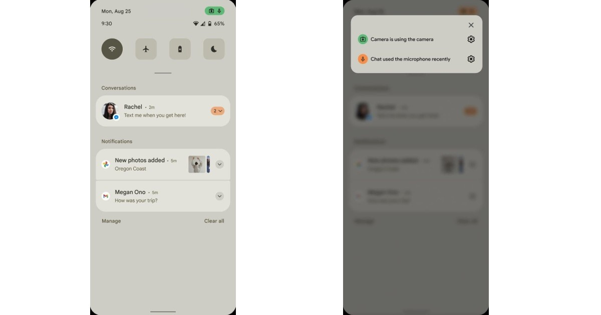 Android 12 privacy indicators