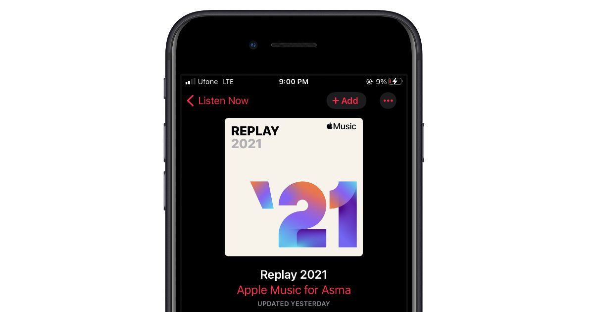 Apple Music Replay 2021 playlist now available