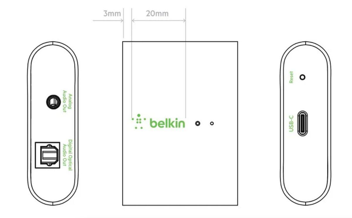 Belkin Soundform connet AirPlay 2 adaptor