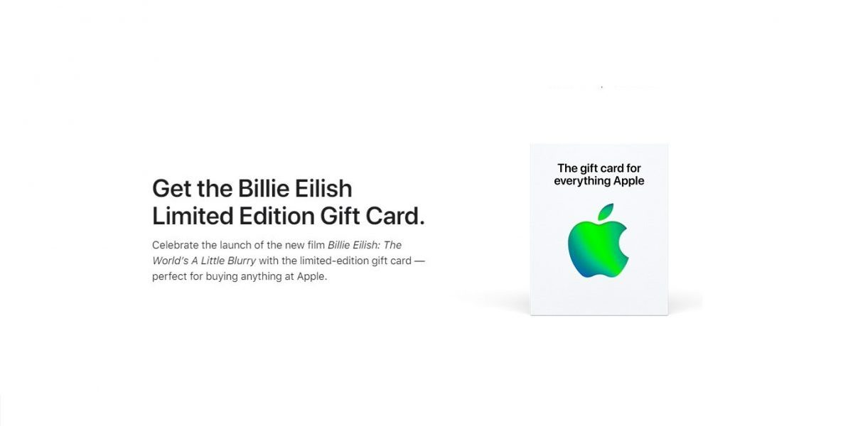 Apple drops limited edition Billie Eilish themed Apple Gift Card