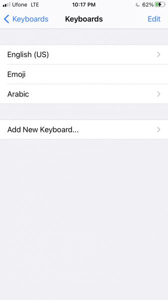 How to change keyboard on iPhone 6
