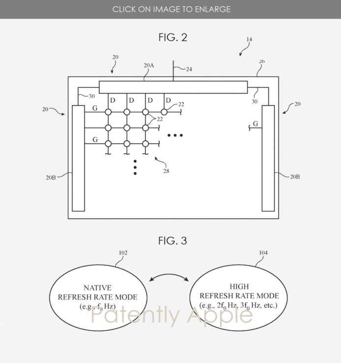 Apple wins a Patent for Displays with variable refresh rates up to 240Hz