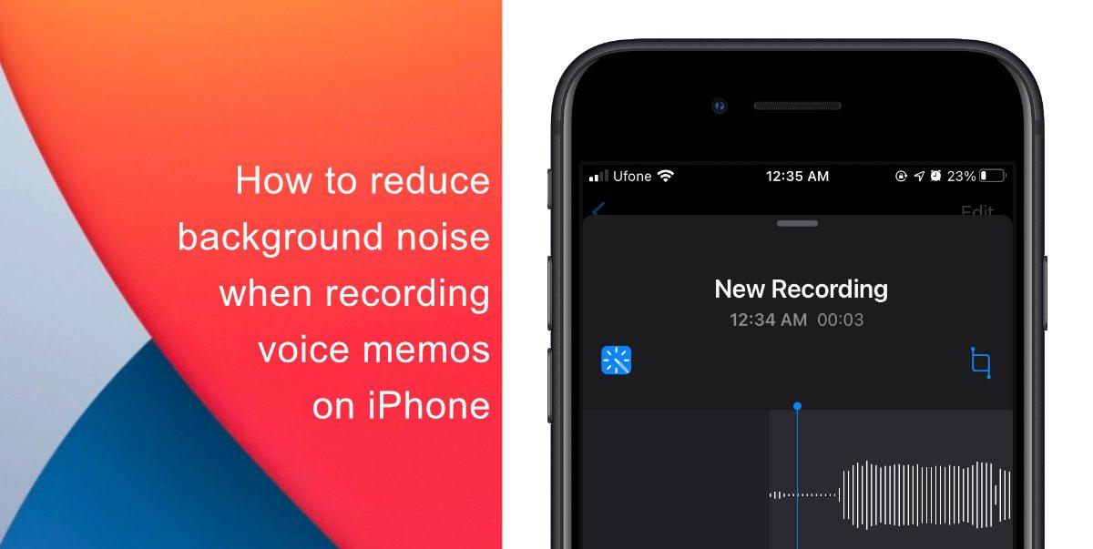 Reduce background noise