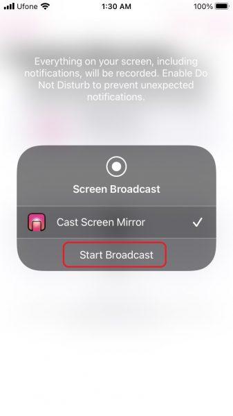 Replica app. mirror iPhone screen