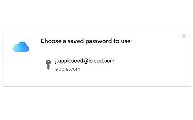 iCloud passwords Chrome