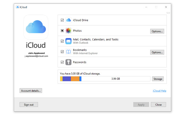 iCloud passwords in Chrome on Windows