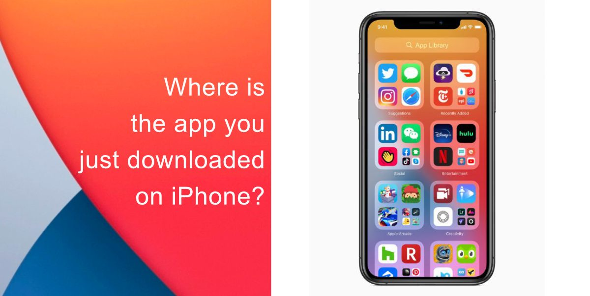 Where is the app you just downloaded on iPhone?