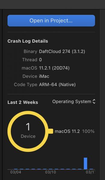 Apple Silicon iMac crash log