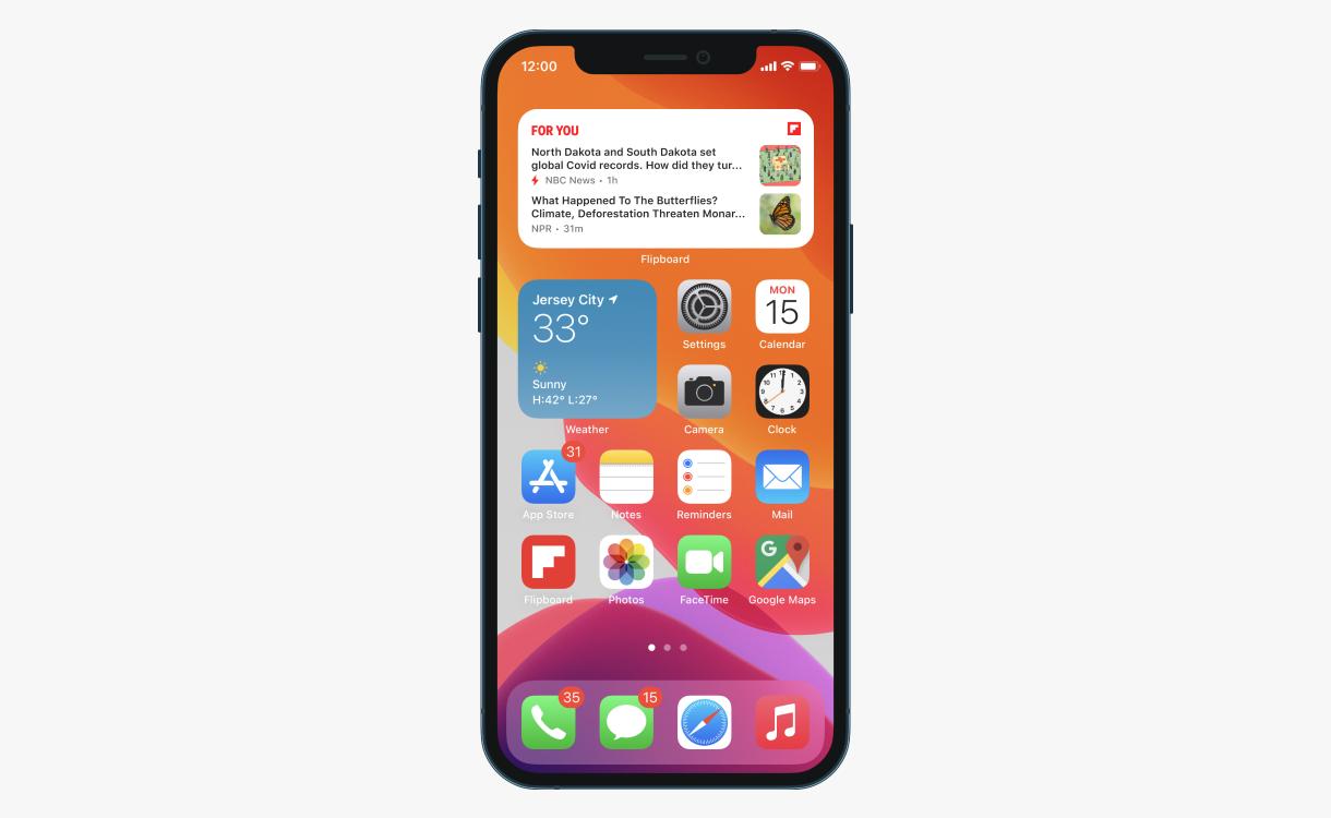 Flipboard iOS 14 widgets