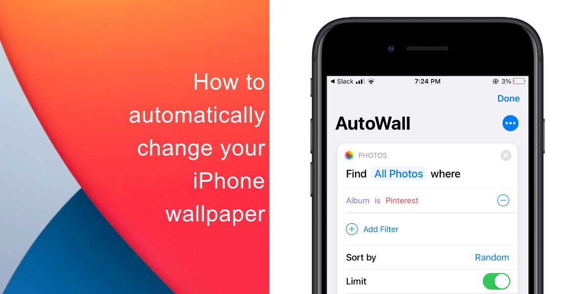 How to automatically change your iPhone wallpaper