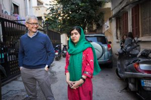 Tim Cook and Malala
