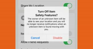 Turn Off Safety Feature iOS